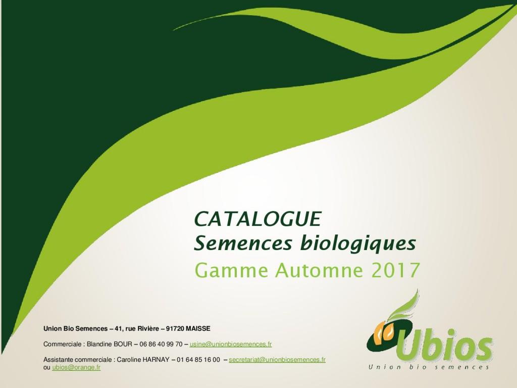 Catalogue semences UBIOS - Automne 2017-page-001