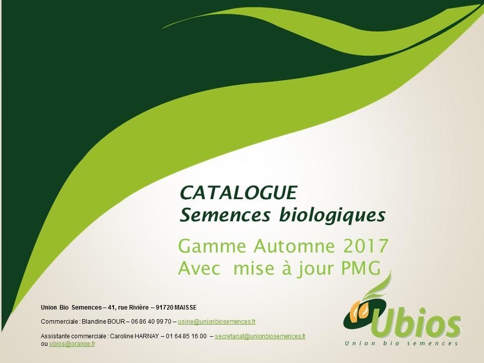 Mise à jour PMG Catalogue semences UBIOS - Automne 2017 -1